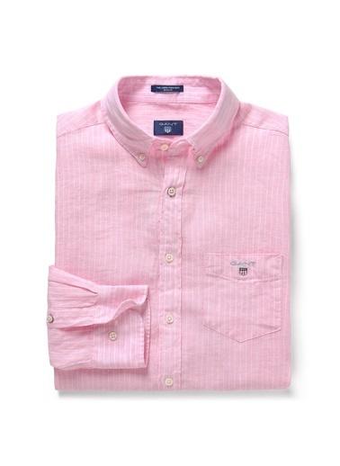 Gant Çizgili Regular Gömlek Pembe